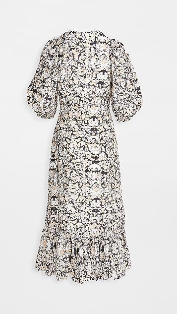 Sea Borealis 泡泡袖连衣裙