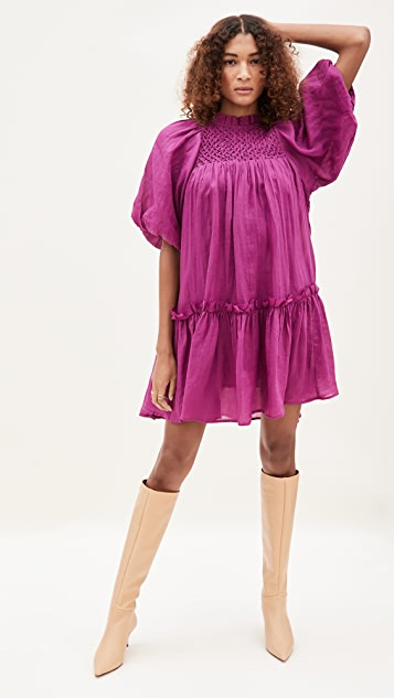 Sea Geneva Lantern Sleeve Dress
