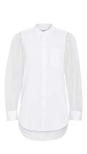 Sea James Organza Sleeve Shirt