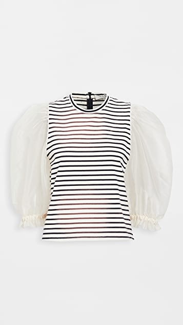 Sea James Organza Sleeve Tee