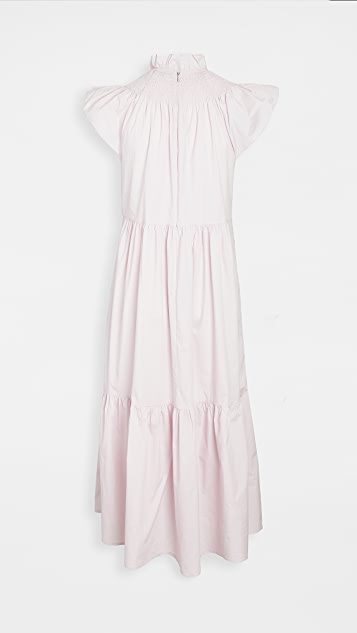 Sea Marlene Smocked Midi Dress