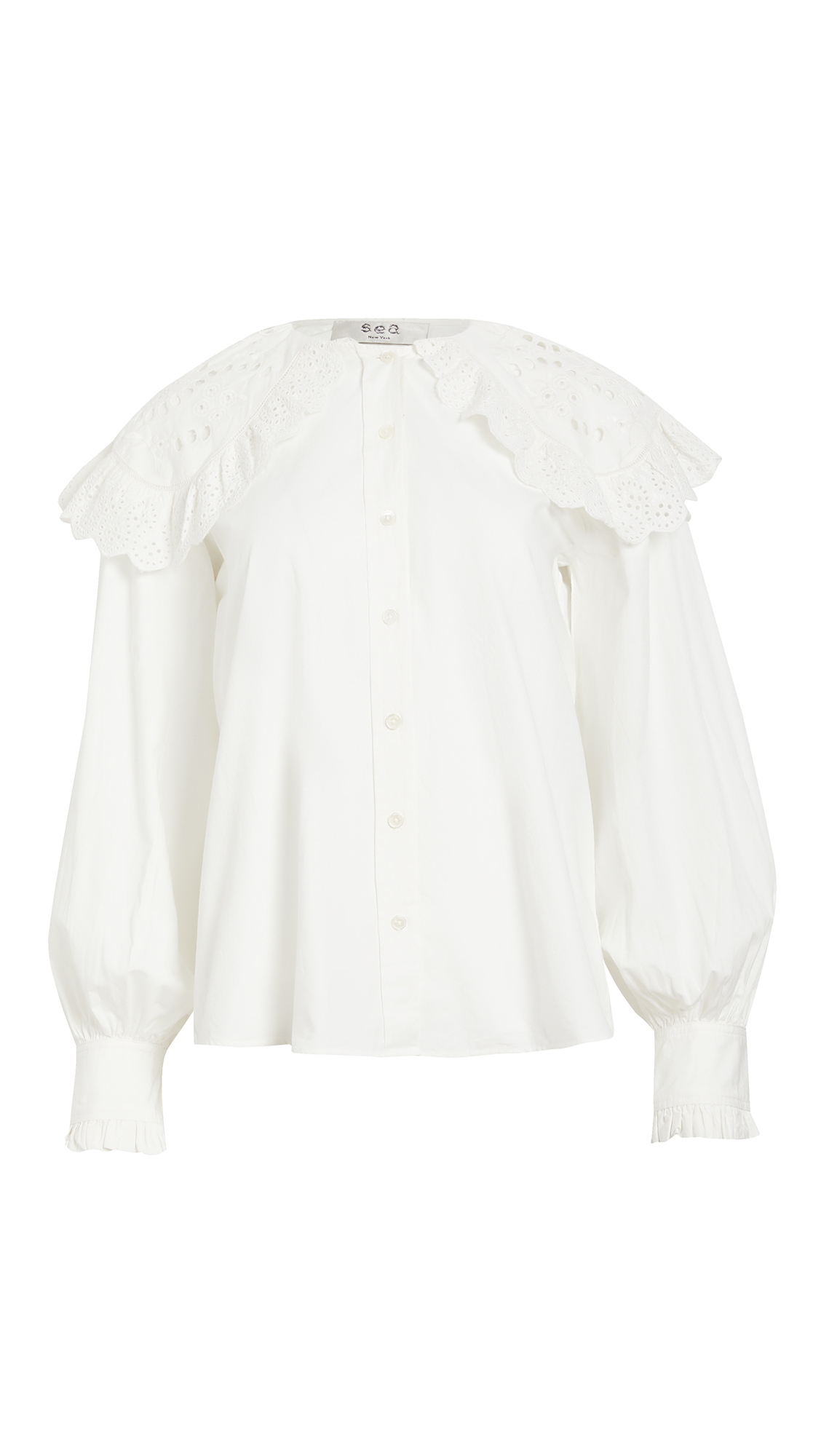 Sea Marina Lace Collar Shirt