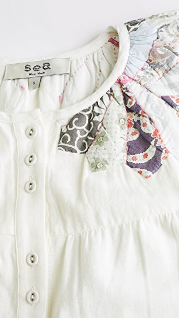 Sea Paloma 长款衬衫式连衣裙