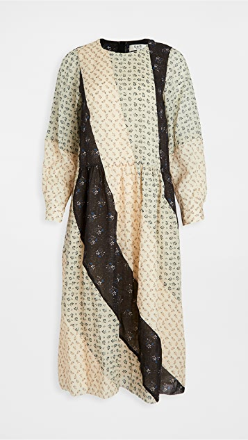 Sea Ditsy Mix Puff Sleeve Dress