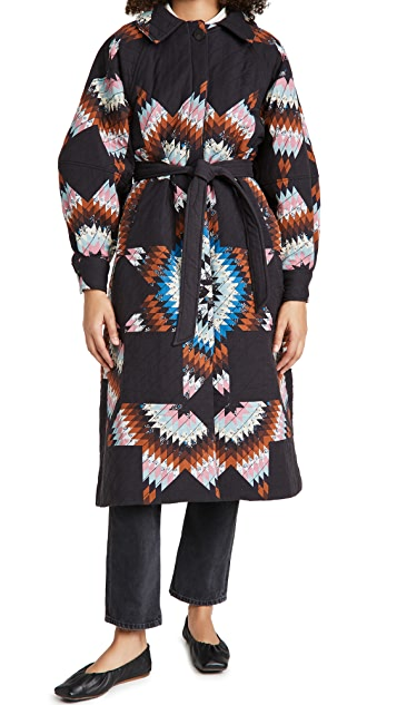Sea Lindstrom Quilt Long Sleeve Coat