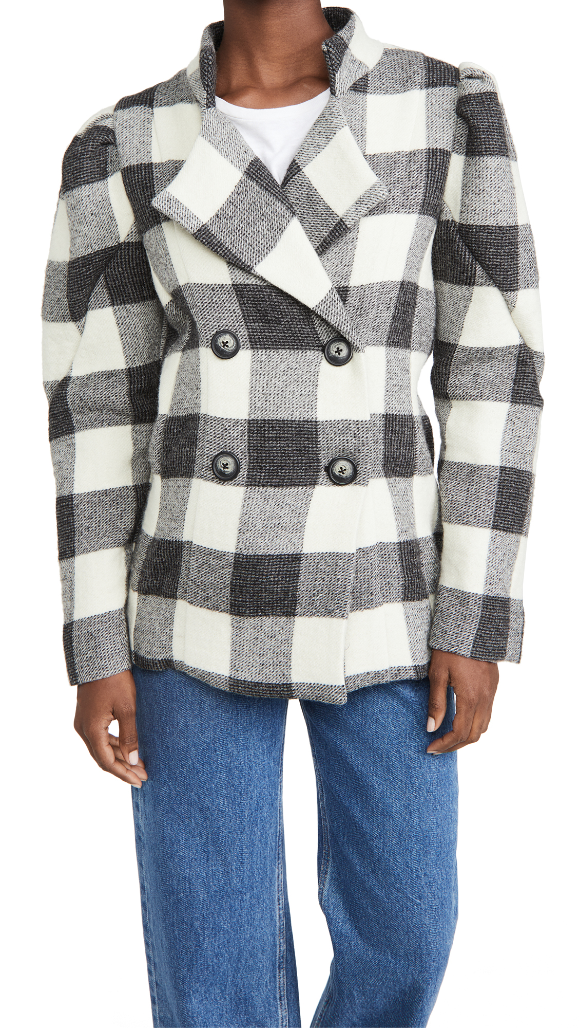 Sea Clement Check Wool Jacket