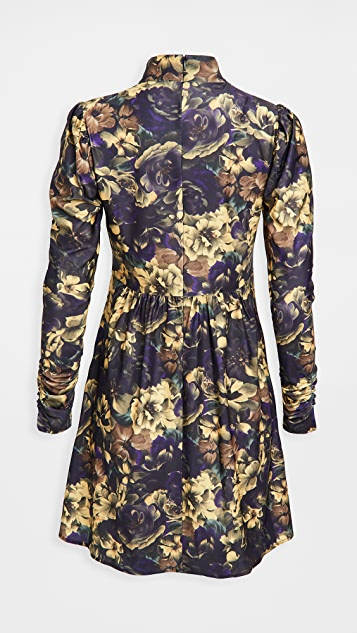 Sea Dogwood Floral Long Sleeve Dress