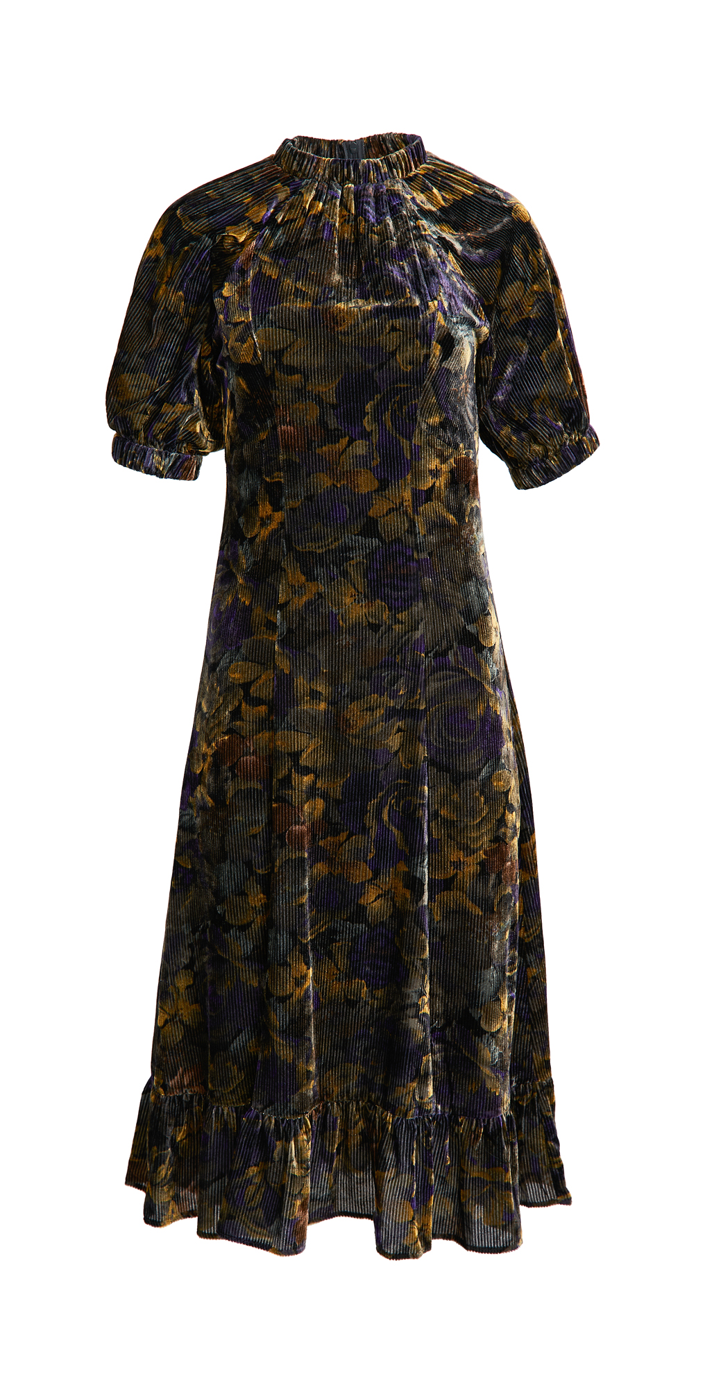 Sea Dogwood Floral Dropped Shoulder Dress