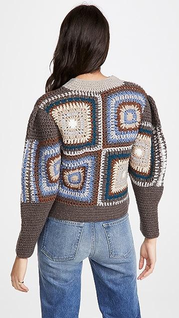 Sea Farrah Crochet Sweater