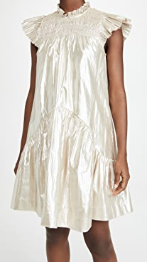 Sea Lumier Flutter Sleeve Smocked Dress