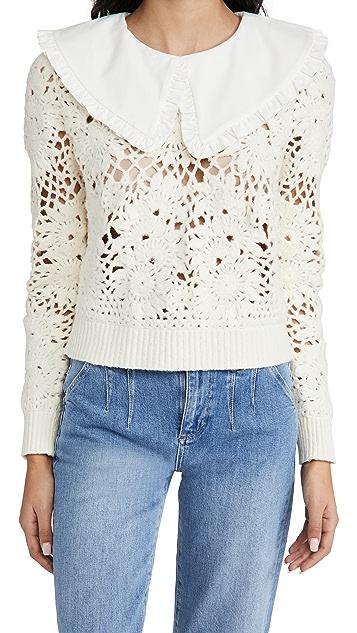 Sea Zandra Sweater with Combo Collar
