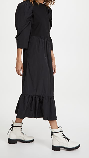 Sea Nadja Taffeta Combo Midi Dress