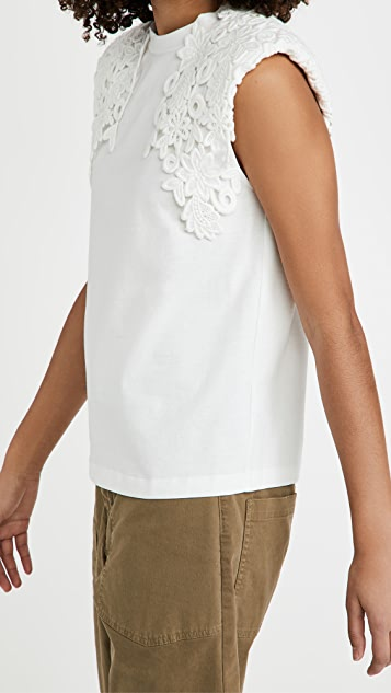 Sea Zandra Lace Applique Tee
