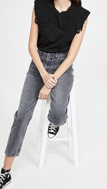 Sea 蕾丝贴花 T 恤