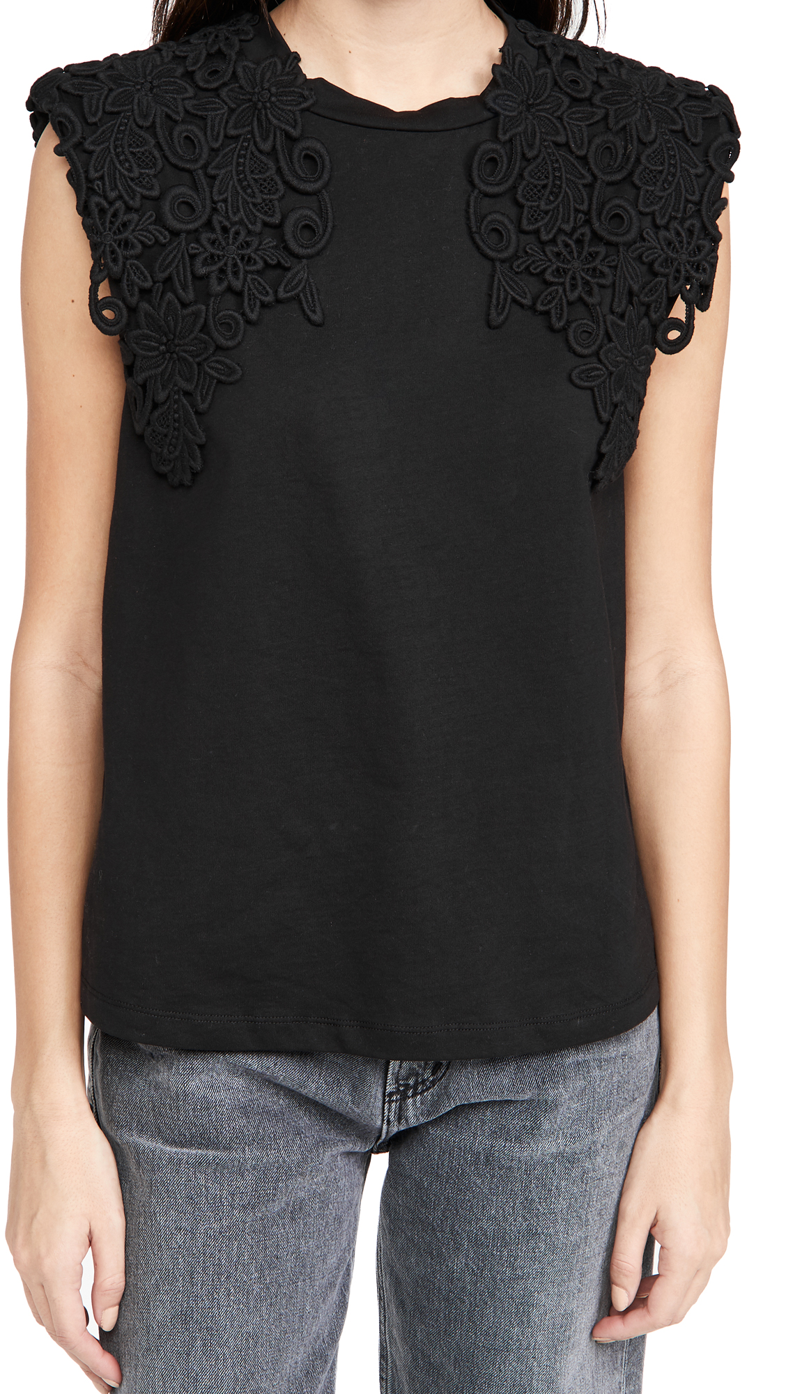 Sea Lace Applique Tee