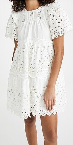 Sea - Hazel Eyelet Tiered Dress