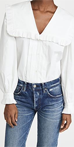 Sea - Charlie Cotton Pleated Blouse