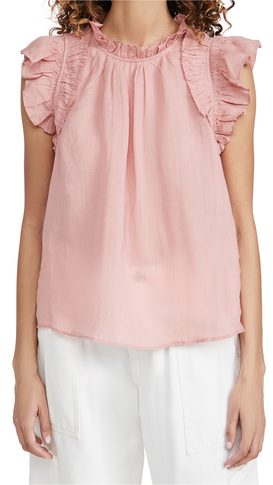 Sea Hattie Ramie Flutter Sleeve Top
