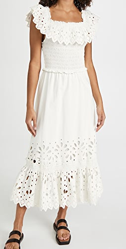 Sea - Hazel Eyelet Smocked Ruffle Dress