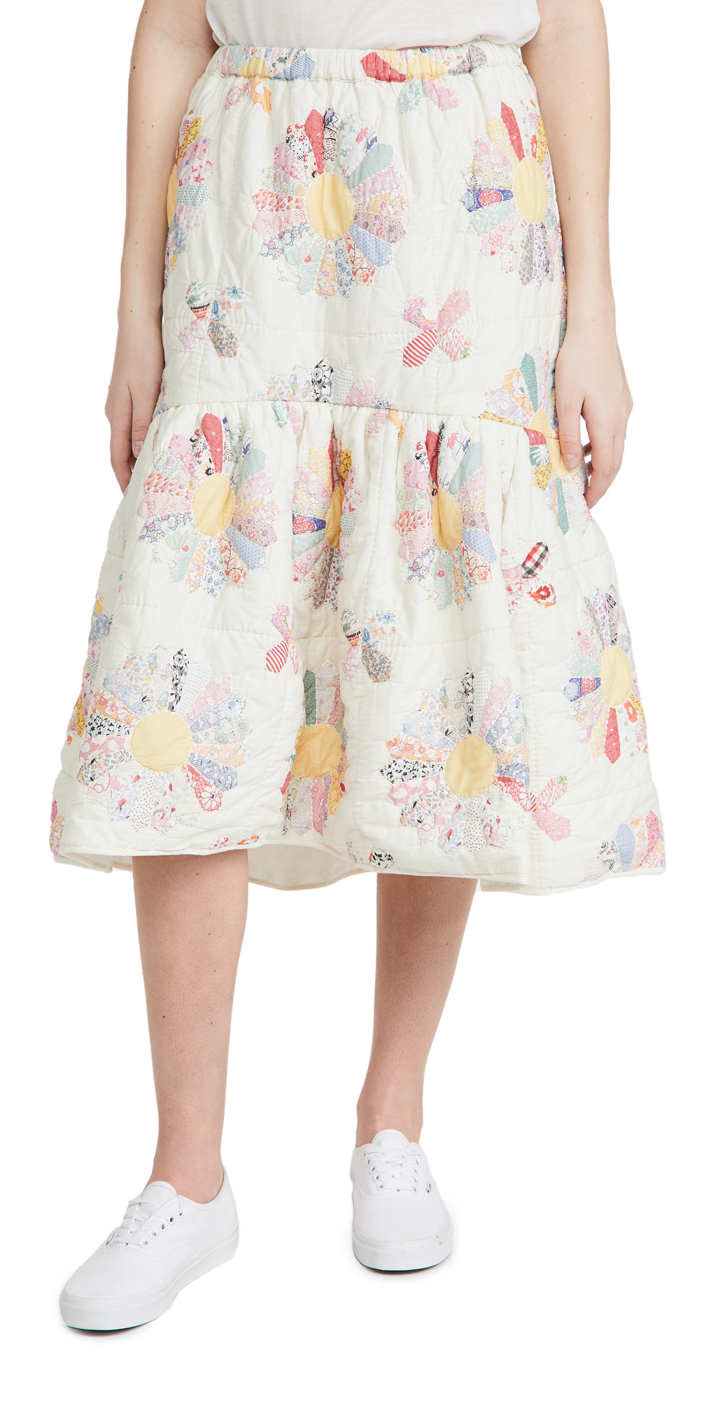 Sea LINDEN PATCHWORK QUILTED SKIRT