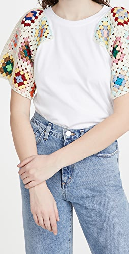 Sea - Gabriela Crochet T Shirt