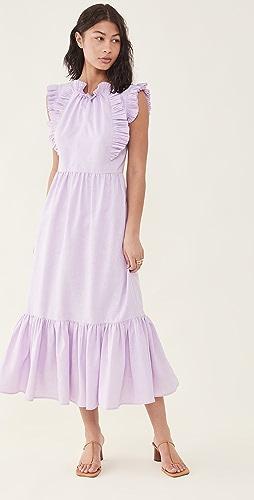Sea - Bailey Broomstick 褶皱及地连衣裙