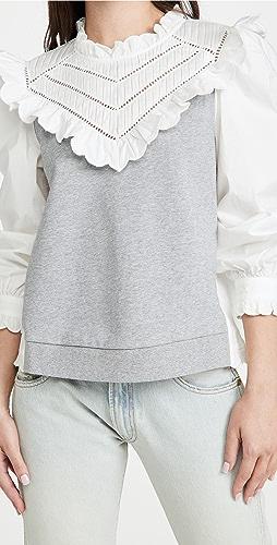 Sea - Shannon Scallop Ruffle Sweatshirt