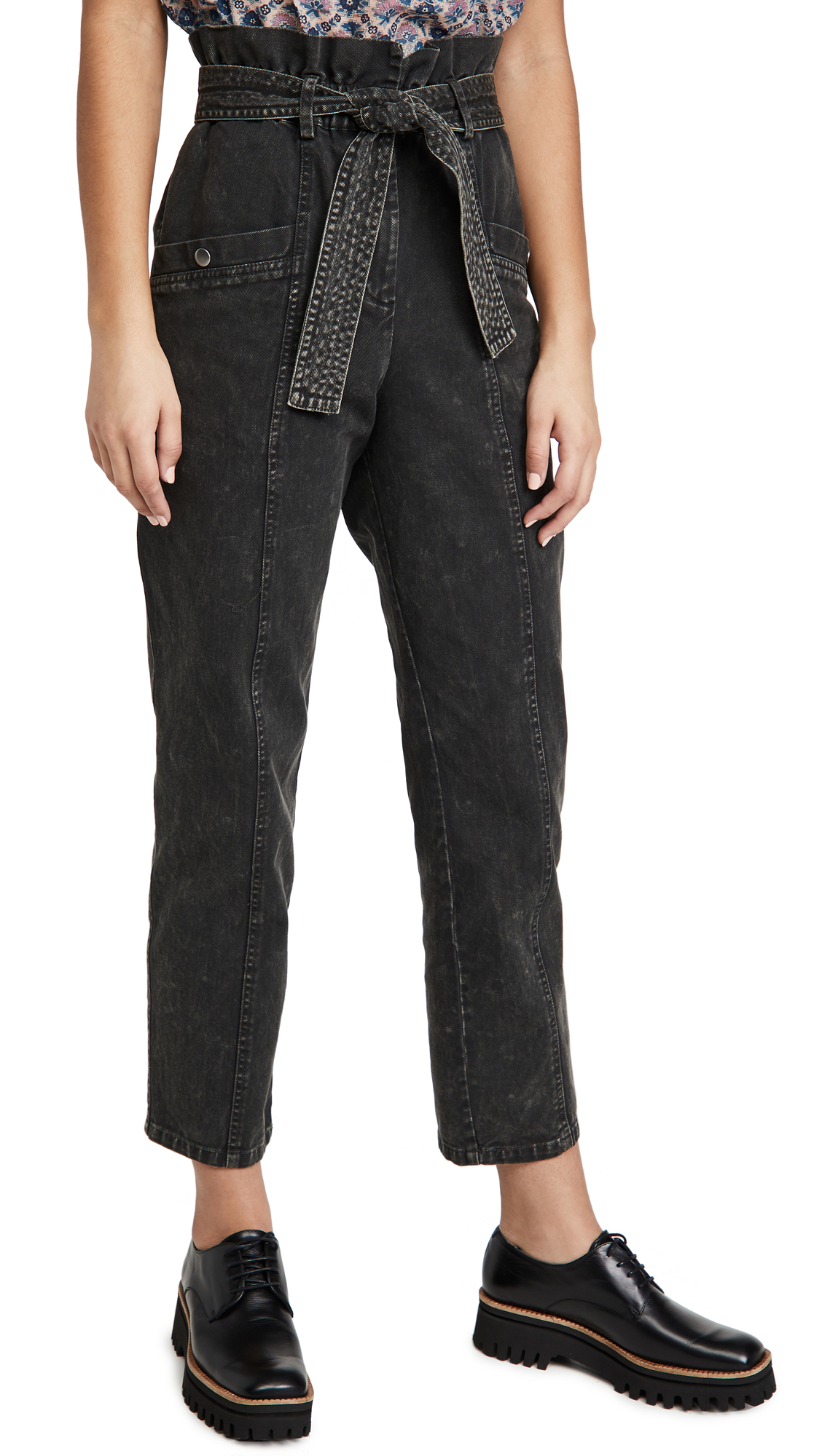 Sea Metta Acid Wash Denim Pants
