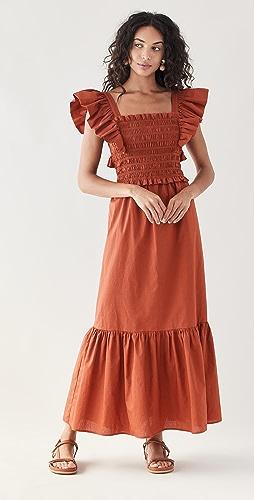 Sea - Gladys Hand Smocking Short Sleeve Dress