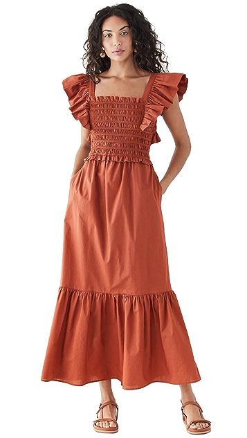 Sea Gladys Hand Smocking Short Sleeve Dress