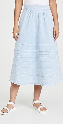 Sea - Maura 酸洗牛仔布半身裙