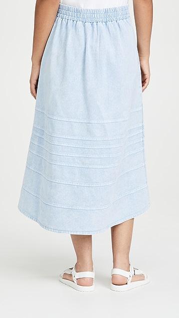 Sea Maura 酸洗牛仔布半身裙