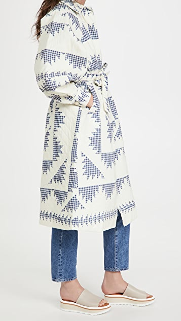 Sea Gloucester Gingham Quilted Coat