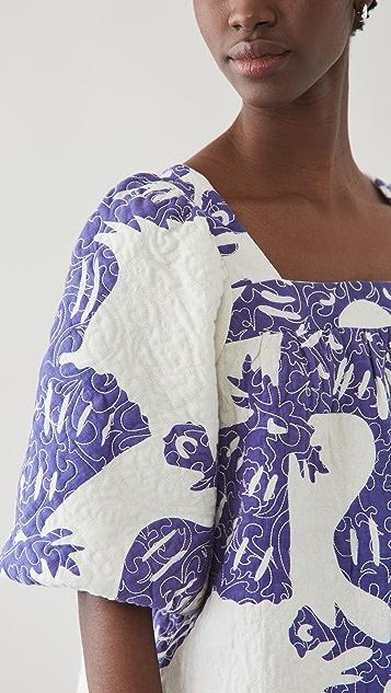 Sea Henrietta Print Puff Sleeve Top