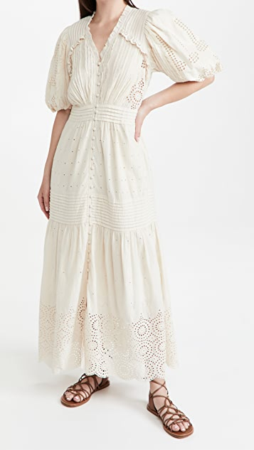 Sea Everleigh Eyelet Long Sleeve Dress