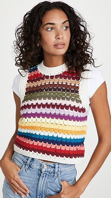Sea Ziggy Crochet Vest