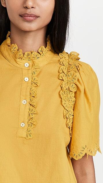 Sea Adrienne Cotton Short Sleeve Top
