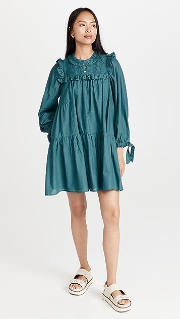 Sea Adrienne Cotton Puff Sleeve Tunic Dress