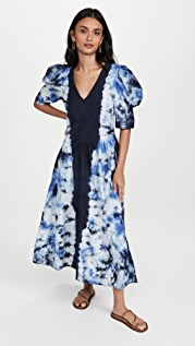 Sea Celestia Tie Dye Puff Sleeve Dress
