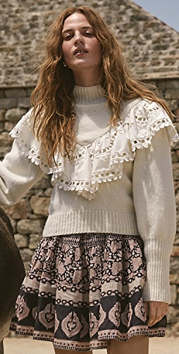 Sea - Santos Eyelet Combo Sweater