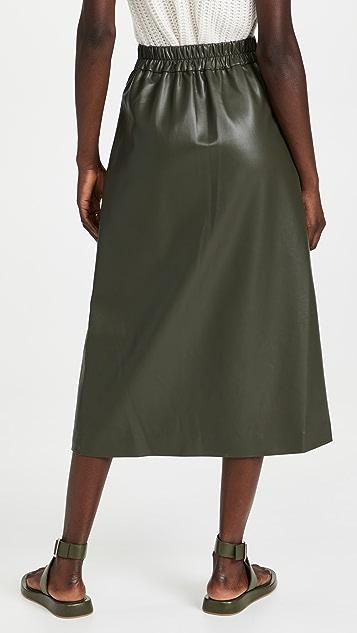 Sea Lena Vegan Leather Skirt