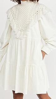 Sea Cindy Seersucker Dress with Neck Warmer