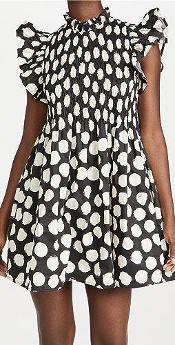 Sea - Arline Polka Dot Smocked Dress