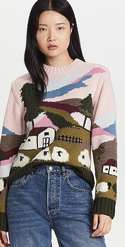 Sea - Reese Intarsia Sheep Sweater