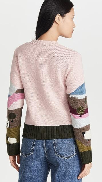 Sea Reese Intarsia Sheep Sweater