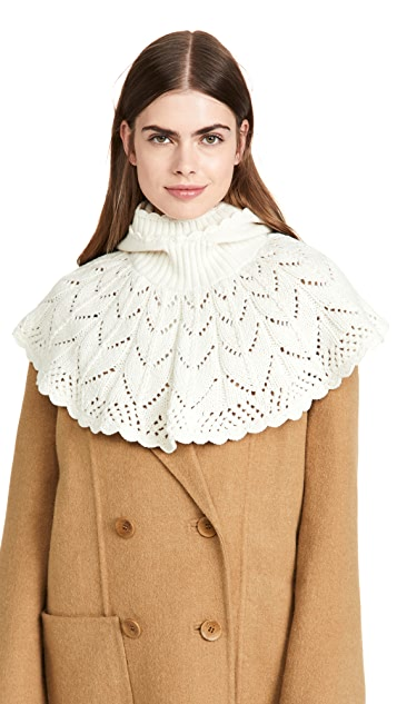 Sea Cindy Knit Neck Warmer With Hood