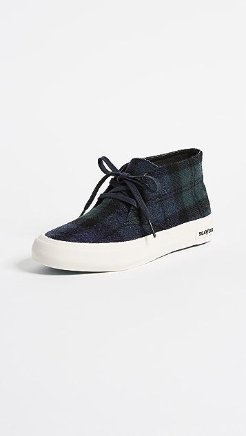 SeaVees Maslon Desert Boot Sneakers - Blackwatch Plaid
