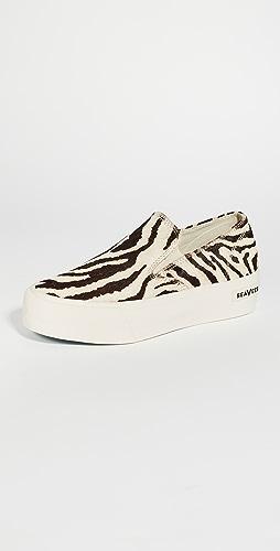 SeaVees - Baja Platform Slip On Sneakers