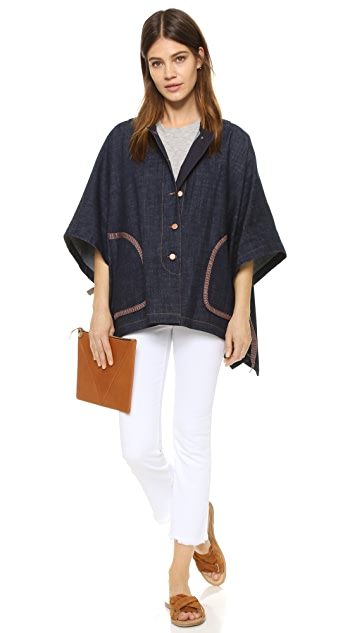 See by Chloe Denim Cape
