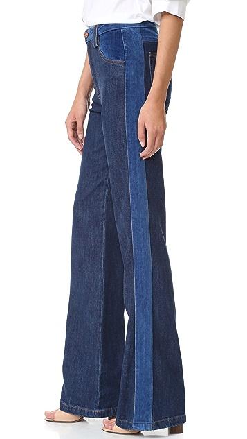 See by Chloe Tuxedo Wide Leg Jeans